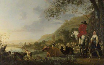 """""""نهر، وفارس يتحدث مع الراعي"""""""