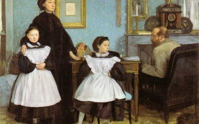 """لوحة """"عائلة بيليللي"""" للفنان إيدجار ديغا"""