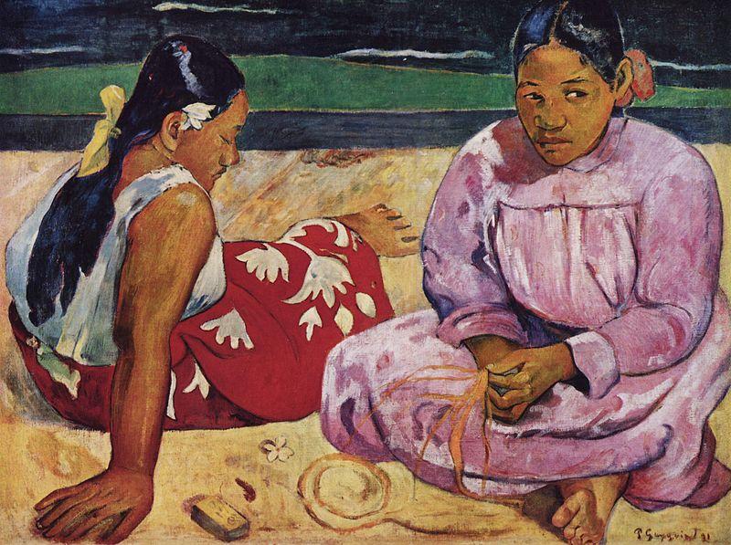 """""""نساء تاهيتي"""" في لوحة غوغان"""