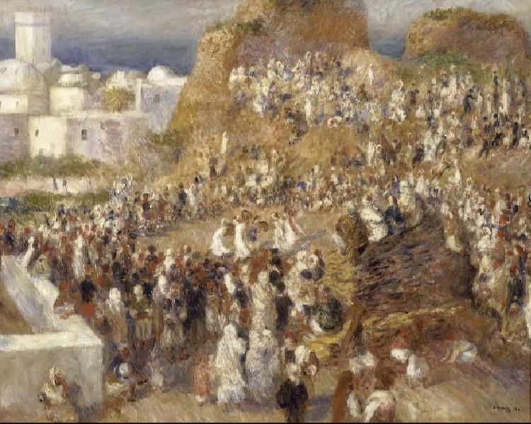 مشهد من رحلة رينوار إلى الجزائر