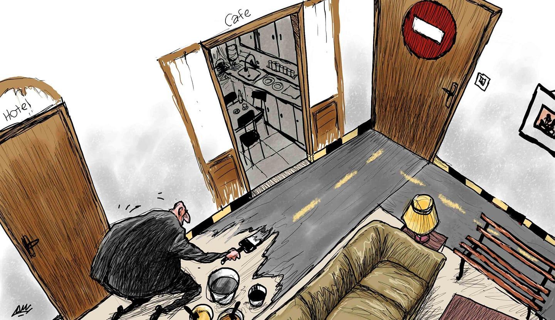 كاريكاتير كورونا