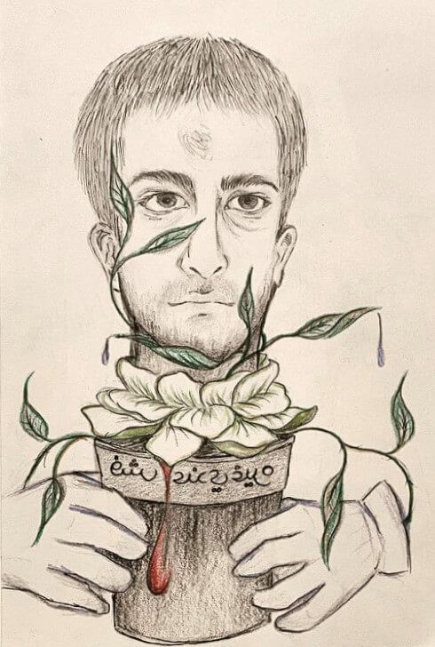 رسمة إياد حلاق
