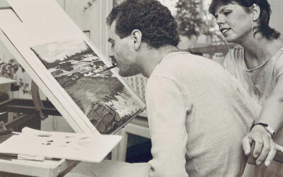 هشام ادغيم | الفنان الذي يرسم بفمه